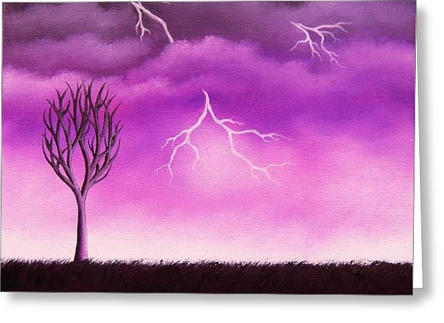 Lightning Scars Greeting Card by Rachel Bingaman