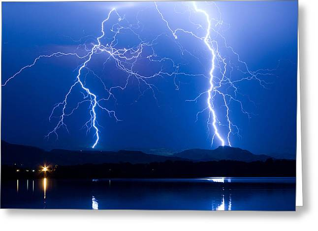Lightning Storm 08.05.09 Greeting Card by James BO  Insogna