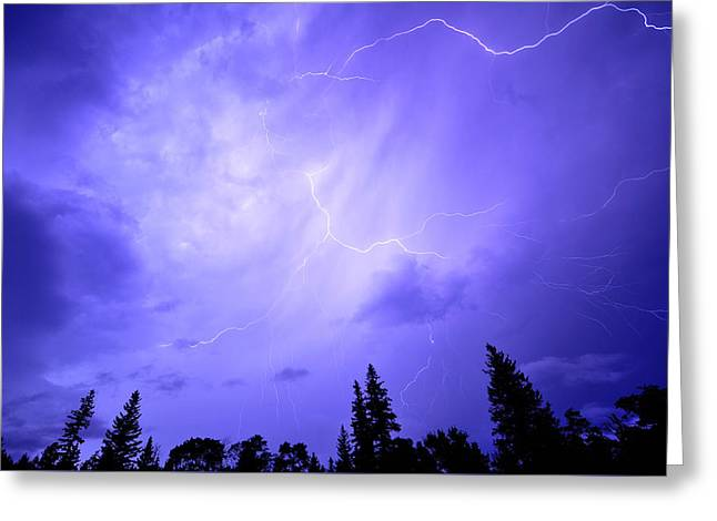 Lightning Storm Greeting Card