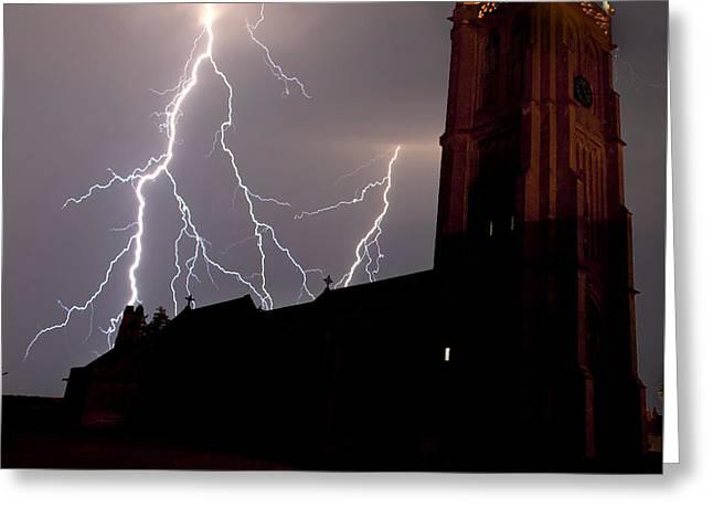 Lightning Storm Greeting Card by Jody Gaisford