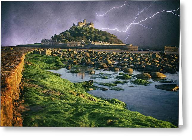 Lightning Storm Greeting Card by Martin Newman