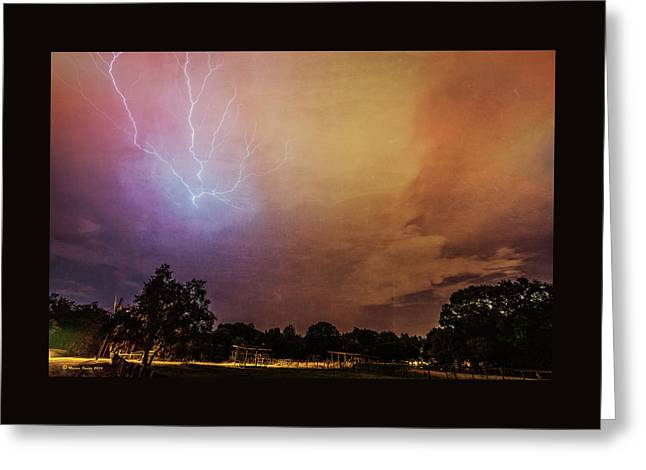 Lightning Strike Greeting Card by Marvin Spates