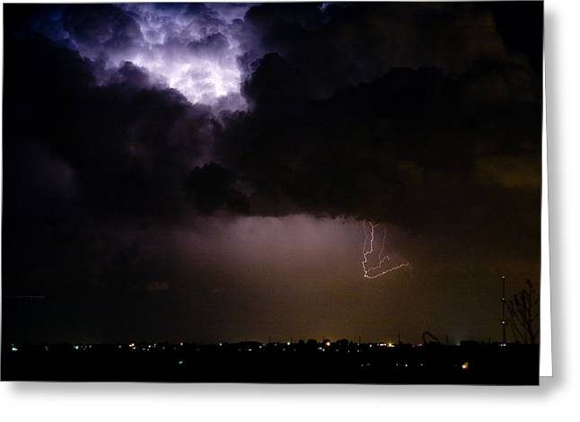 Lightning Thunderstorm Cell 08-15-10 Greeting Card by James BO  Insogna