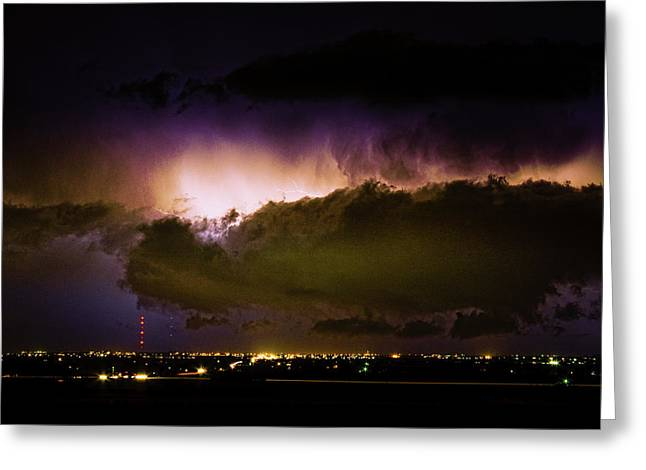 Lightning Thunderstorm Cloud Burst Greeting Card by James BO  Insogna
