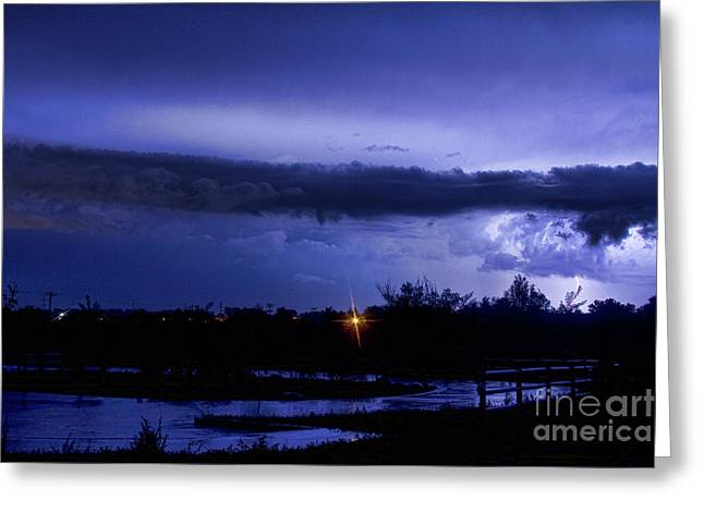 Lightning Thunderstorm July 12 2011 St Vrain Greeting Card by James BO  Insogna