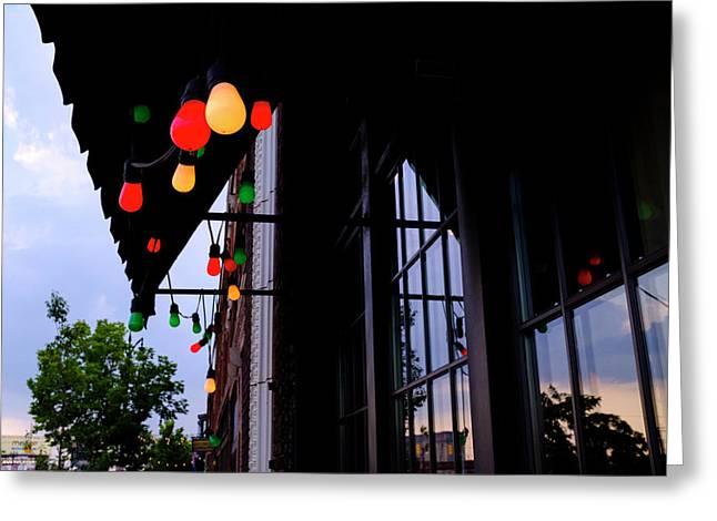 Lights In Corktown In Detroit Michigan Greeting Card