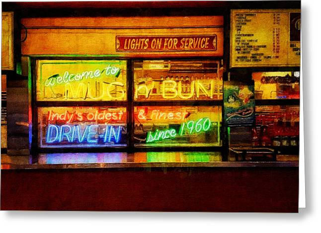 Lights On For Service Greeting Card by Sandy MacGowan