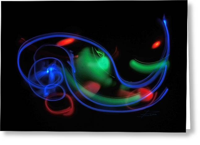 Lights In Motion Greeting Card by Barbara  White