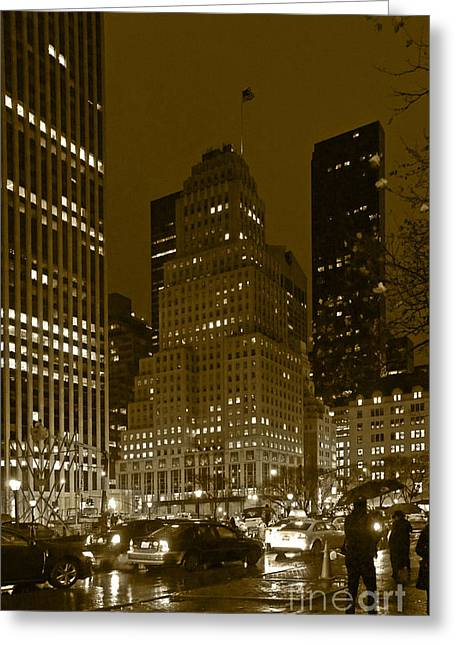 Lights Of 5th Ave. Greeting Card