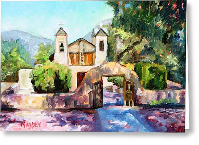 Lights Of Chimayo Greeting Card by Marie Massey
