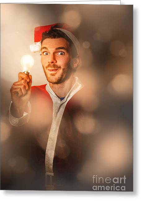 Lights Of Christmas Ideas Greeting Card by Jorgo Photography - Wall Art Gallery
