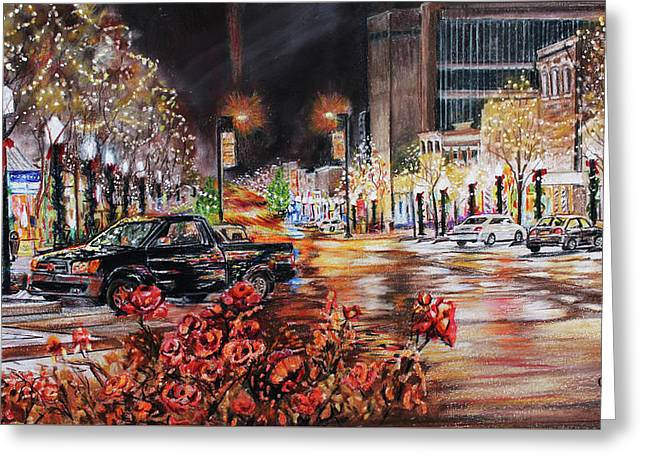 Lawrence kansas greeting cards page 4 of 8 fine art america lights of lawrence greeting card m4hsunfo