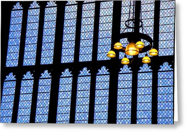 Lights Of Parliament Greeting Card by Roberto Alamino