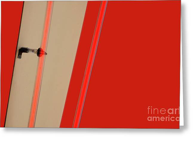 Lights On Red Greeting Card