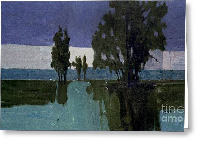 Lights On The Horizon Greeting Card by Donald Maier