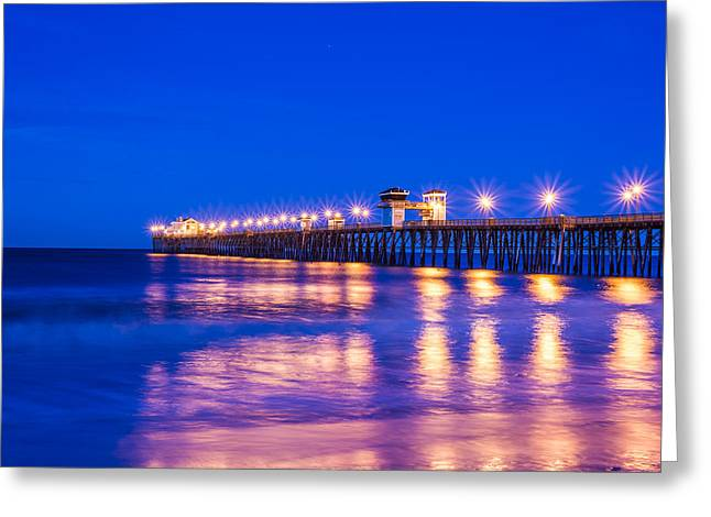 Lights On The Water Greeting Card by Joseph S Giacalone