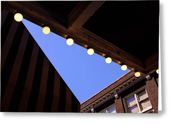 Lights Roofs And Triangles In Frederick Maryland Greeting Card