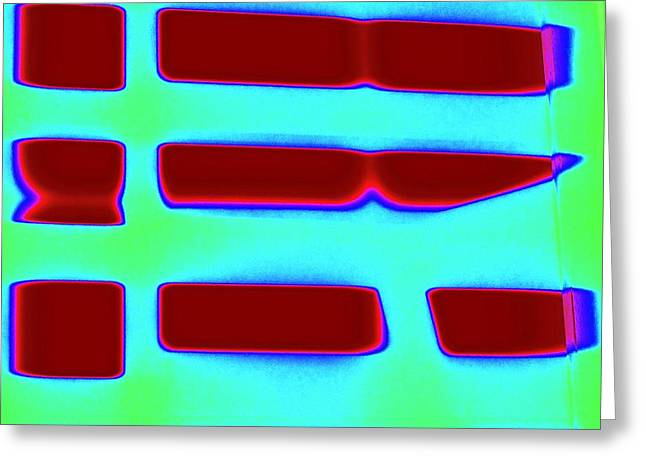 Lightscape Grid Greeting Card by Terry w Scales