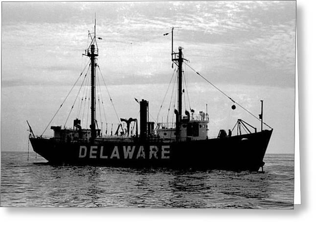 Lightship Delaware Vintage 1968 Greeting Card by Wayne Higgs
