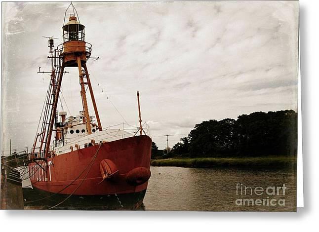 Lightship Nantucket Wlv-613 At Wareham Greeting Card