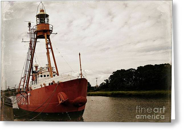 Lightship Nantucket Wlv-613 At Wareham Greeting Card