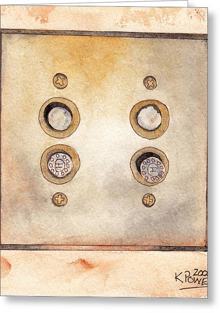Lightswitch Greeting Card by Ken Powers
