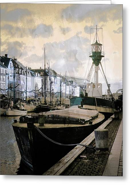 Lightvessel Nyhavn Copenhagen Greeting Card by Dorothy Berry-Lound