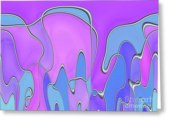 Greeting Card featuring the digital art Lignes En Folie - 03a by Variance Collections