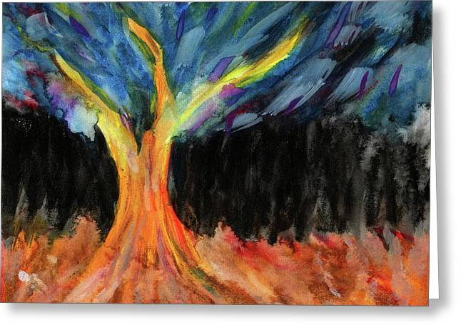 Lignum Abstracta - Tree In Abstract Greeting Card by R Kyllo