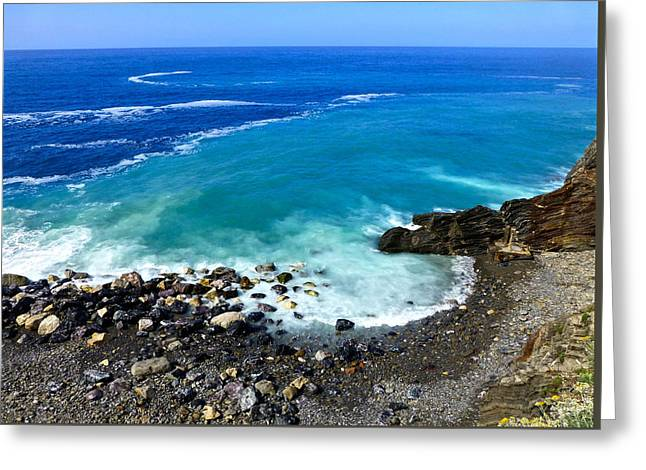 Ligurian Coastline Greeting Card
