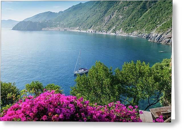 Ligurian Sea, Italy Greeting Card