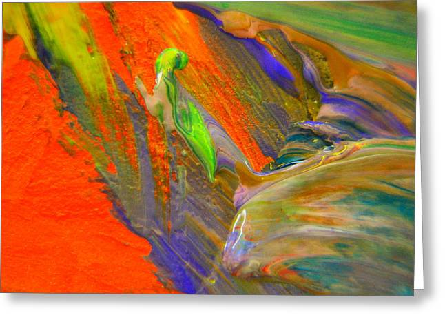 Like A Monk Praying Abstract Greeting Card by Jeff Swan