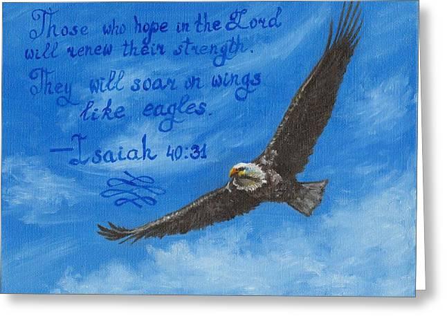 Like Eagles Greeting Card by Yulia Litvinova