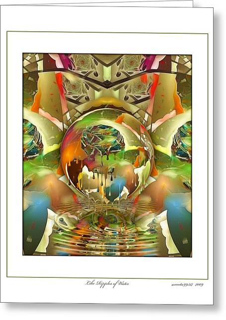 Like Ripples Of Water Greeting Card by Gayle Odsather
