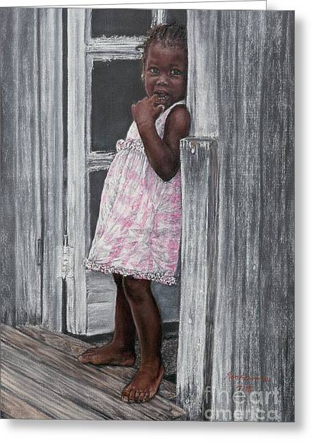 Lil' Girl In Pink Greeting Card