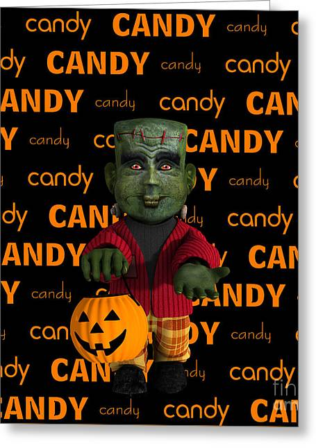 Lil Monster Halloween Greeting Card by Methune Hively