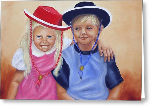 Lil Pardners Greeting Card by Joni McPherson
