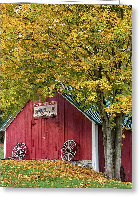 Lil Red Vermont Shed Greeting Card by Thomas Schoeller