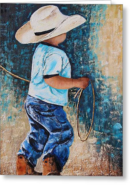 Li'l Rustler Greeting Card by Patricia Pasbrig
