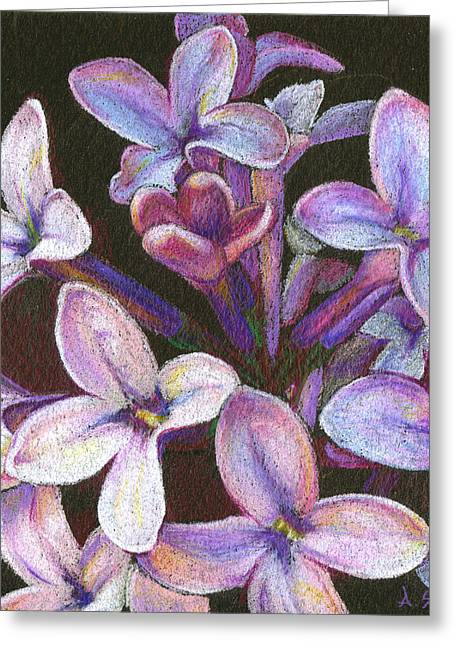 Lilac 2 Greeting Card by Audi Swope
