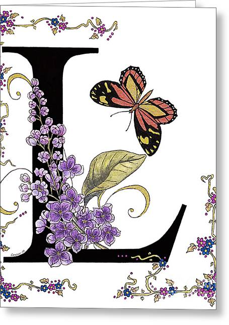 Lilac And Large Tiger Butterfly Greeting Card