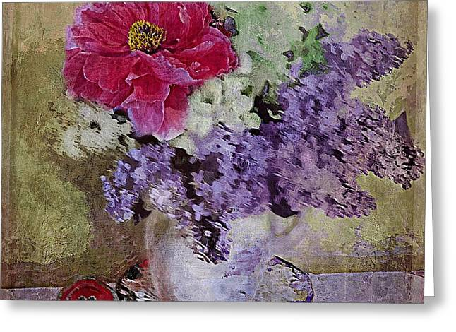 Lilac Bouquet Greeting Card by Alexis Rotella