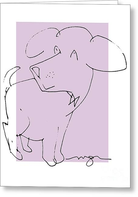 Lilac Dog Greeting Card