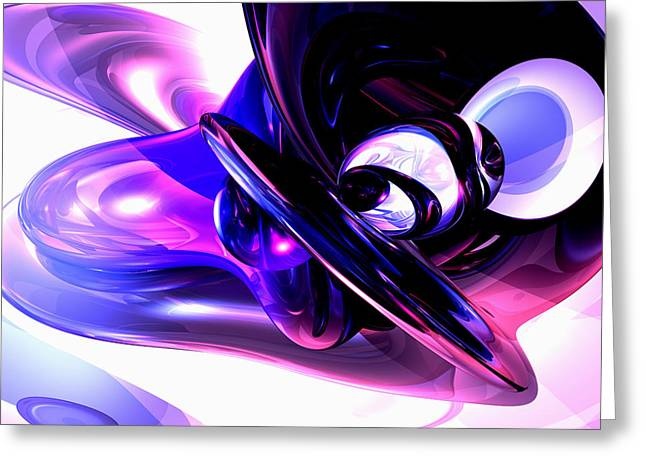 Lilac Fantasy Abstract Greeting Card by Alexander Butler