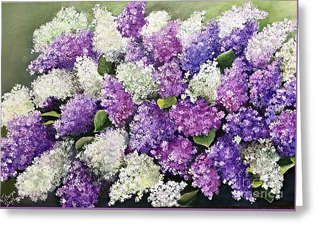 Lilac Glamour Greeting Card