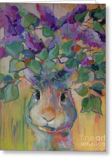Lilac Greeting Card by Kimberly Santini