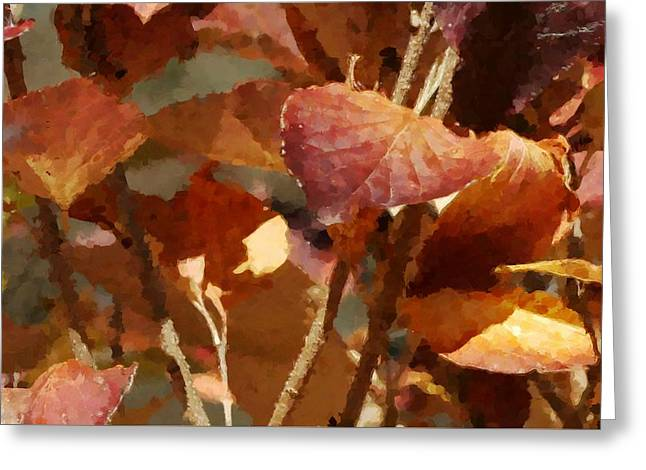 Lilac Leaves 36 Greeting Card