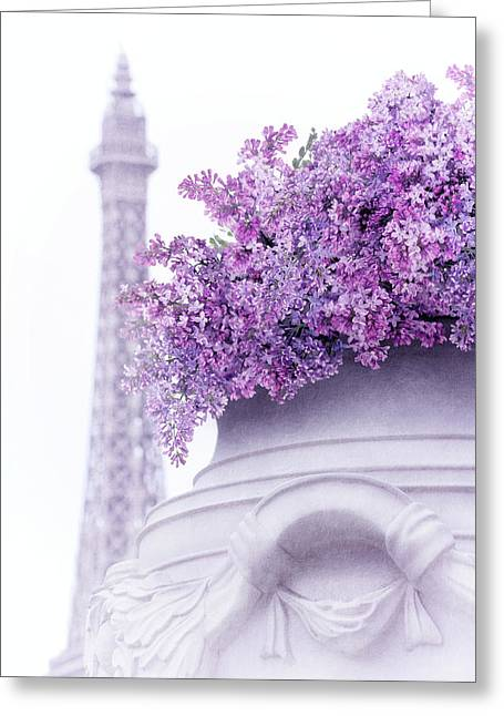 Lilac Tales Greeting Card by Iryna Goodall