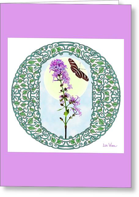 Lilac With Butterfly Greeting Card by Lise Winne