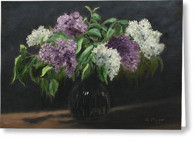Lilacs Greeting Card by Alan Mager